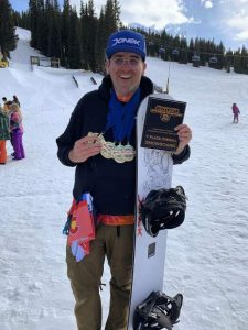 Truckee's Dave White Jr. claimed five gold medals and won the overall award in the adaptive class during the USASA National Championships