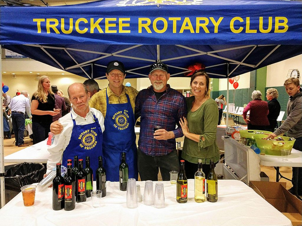 Truckee Rotarians Mike Horn, Billy McCullough, Hans Wain and Brinn Talbot can attest to the appeal of the annual event this year raising funds for the Truckee Downtown Park.